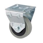 Колесо аппаратное Tellure Rota 375101 неповоротное, ? 50 мм, грузоподъемность 35 кг, серая резина, полипропилен
