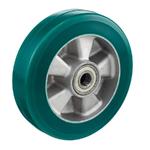 Колесо большегрузное Tellure Rota 622106 под ось, ? 200 мм, грузоподъемность 700 кг, полиуретан TR-ROLL, алюминий