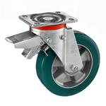 Колесо большегрузное Tellure Rota 627206 поворотное, с задним тормозом, ? 200 мм, грузоподъемность 700 кг