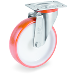 Колесо Tellure Rota 604206 поворотное, ? 200 мм, грузоподъемность 300 кг, полиуретан, полиамид
