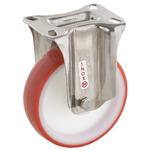 Колесо Tellure Rota 605103 неповоротное, ? 125 мм, грузоподъемность 220 кг, полиуретан, полиамид, кронштейн из нержавеющей стали