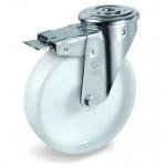 Колесо Tellure Rota 686702 поворотное с тормозом, ? 100 мм, грузоподъемность 200 кг, полиамид
