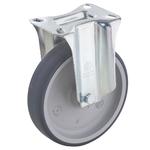 Колесо Tellure Rota 715702 неповоротное, ? 100 мм, грузоподъемность 100 кг, термопластичная серая резина, полипропилен