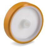Колесо большегрузное Tellure Rota 661106 под ось, ? 200 мм, грузоподъемность 600 кг, полиуретан TR, полиамид 6