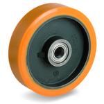 Колесо большегрузное Tellure Rota 642129 под ось, ? 400 мм, грузоподъемность 2800 кг, полиуретан TR, чугун