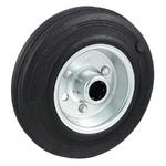 Колесо Tellure Rota 533103 под ось, ? 125 мм, грузоподъемность 130 кг, черная резина, сталь
