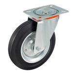 Колесо Tellure Rota 534908 поворотное, ? 250 мм, грузоподъемность 300 кг, черная резина, сталь