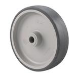 Колесо Tellure Rota 711102 под ось, ? 100 мм, грузоподъемность 100 кг, термопластичная серая резина, полипропилен